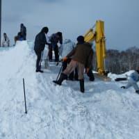 雪像制作スタート!