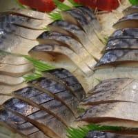 八戸前沖さば「銀鯖」で手作り!なまらできたて 自家製「生ら(なまら)〆さば」!!刺身と手作り干物の専門店「発寒かねしげ鮮魚店」。
