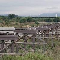 台風19号により、流れ橋流れました。