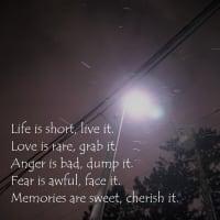 世界の名言◆「人生は短い。故に生きよ」-Dr.kei versionも是非!-