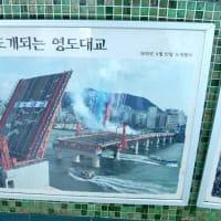 1日1度だけ開く影島大橋を釜山タワーから見た😎
