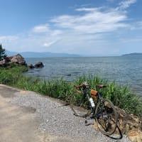デローザで琵琶湖 びわ湖よし笛ロード〜さざなみ街道