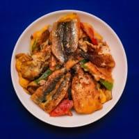 2019.08.31の夕食 イワシと野菜の天ぷらのつもりでしたが・・・。
