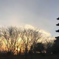 夕暮れの国分寺五重塔