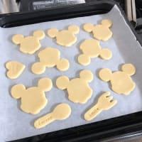 パンダがクッキーを抱えてる