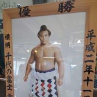 ブログ1カ月ぶりに更新。ぼちぼちと・・・郷里の横綱千代の富士の優勝額展示会(両国駅で)に行きました