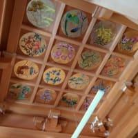 """羽生の""""富徳寺""""の天井で色とりどりの草花が咲く?"""