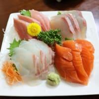 生魚とハラスと空豆と落花生とうふ