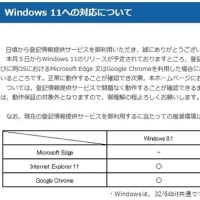 Windows11対応について 登記情報システム