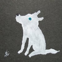 留美ピアノ素描Ⅸ(青い目の白い犬)
