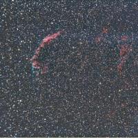 19/05/07「令和元年 皐月-極寒 県民の森の陣」 part5「カメラ故障が発覚した画像…。東側のNGC6992 と 西側のNGC6960の網状星雲…。」