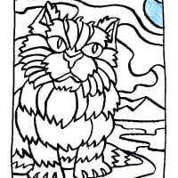 ペルシア猫(ぬり絵風似顔絵)