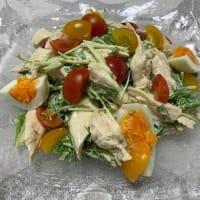 ササミと水菜のわさびマヨ和え