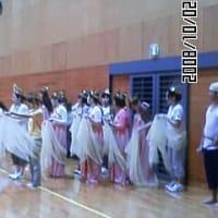 「炎の祭典班」練習風景