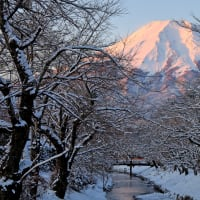 お宮橋からの紅富士