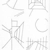 コロナ下の散歩(ミリペン画)