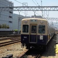 阪神 甲子園(2010.6.5)  青胴車 5143F+5313F 普通 梅田行き 行先表示板