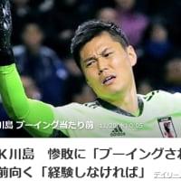 大敗のサッカー日本代表