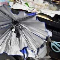 ▼頭に被る傘