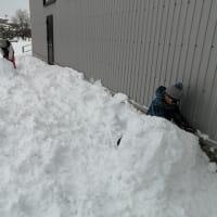 除雪×雪遊び×天然の冷蔵庫