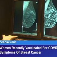 COVID-19用ワクチンを受けた女性は、副作用として乳がんの症状を示すかもしれない GreatGameIndia