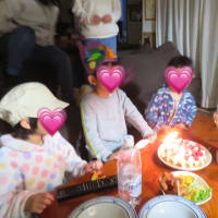 実家にて合同誕生日会