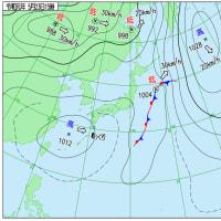 5月23日 アメダスと天気図。