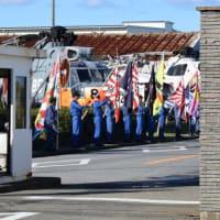 災害派遣の陸上自衛隊32普通科連隊の皆さんが大宮駐屯地に帰隊