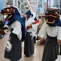 芥川商店街に獅子舞が!