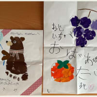 ●我が家の9月の花 コムラサキ   敬老週間 孫から絵のプレゼント 千日紅のドライフラワー
