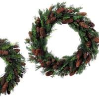 クリスマス ミックスパインリース 45cm 50cm 通販