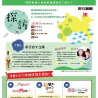 2017年8月6日朝日新聞 『ヤマユリの群生を再び』新百合ヶ丘周辺@探訪がスタート!