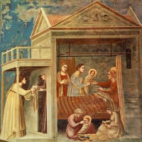 喜びの玄義 第1玄義:この一連を捧げて、聖母が御告げを受け給いたるを黙想し、聖母の御取り次ぎによりて、謙遜の徳をこい願わん