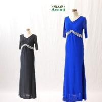 ロングドレス366 マーメードラインの袖付きロングドレス ゆったり快適な着心地 衣装 ステージ フォーマル ワンピ パーティー ストレッチ