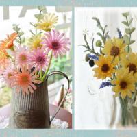 ビタミンカラーのお花をプレゼント用に