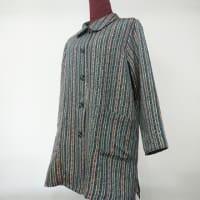 正絹縦縞の着物からジャケット(オーダー)