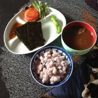 焼き海苔と黒千石大豆ご飯