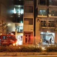 本日接骨院に行く途中。事務所の近くに消防車が1台。マンションに非常ベルが鳴っているからでした。