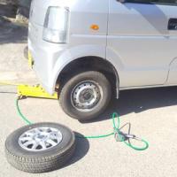 スノータイヤを普通タイヤに交換