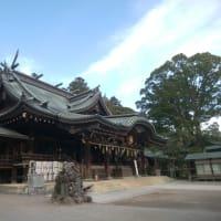 筑波山で山歩きしようとしたら雪で歩けず、筑波山神社。
