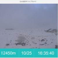雨、雨、雨、山は雪の週末でした