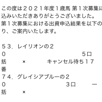 【結果発表】キャロット2021 一次募集