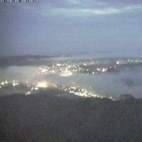 曇っているが霧の海出現