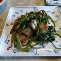 香りの七夕素麺、ガッツリ豚ばら焼きの献立