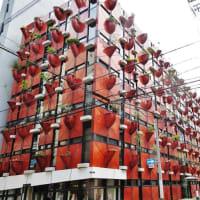 大阪船場のユニークビル!・・・オーガニックビル 植木鉢
