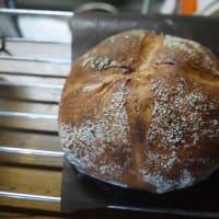 柿酵母のパンを焼く