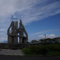 お昼の御立岬と昼夜の太田の浜よりの景色