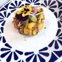 バルセロナ・オーガニックレストラン「Flax&Kale」の生ラザニア(^^♪