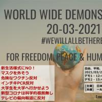 CHD 3月20日(土)、40か国以上のデモ参加者が集まり、基本的人権の回復を求める世界自由集会が開催