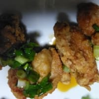 油淋鶏、イカと里芋の煮物